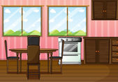 A clean dining room — Vector de stock
