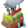 Vector de stock : Global warming