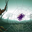 A spiderweb in the woods — Stock Vector #20060921