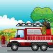 A fire engine — Stock Vector