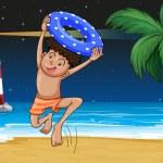 A boy at the beach — Stock Vector #20061109