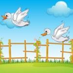 A flying bird — Stock Vector