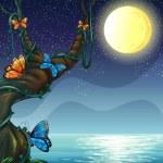 The full moon — Stock Vector