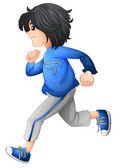 A boy running — Stock Vector