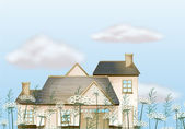 A big house — Stock Vector