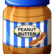 Stock Vector: Jar of peanut butter