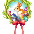 An easter decor with a ribbon — Stock Vector