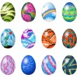 Colorful easter eggs — Vektorgrafik