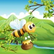 A bee - Stock Vector