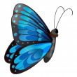 Stock Vector: A blue butterfly