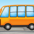 Stock Vector: A yellow bus