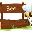 A notice board and a honey bee — Stockvectorbeeld
