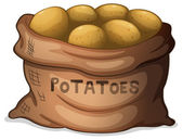 A sack of potatoes — Stock Vector