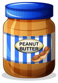 A jar of peanut butter — Stock Vector