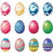 Easter eggs for the easter Sunday egg hunt — Stock Vector