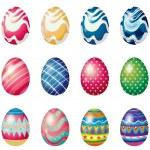 Easter eggs for the easter Sunday egg hunt — Stock Vector