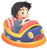 A child riding in a bumpcar — Stock Vector