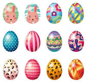 Painted easter eggs — Stock Vector