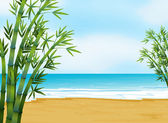 A view of the beach — Stock Vector