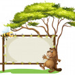 A beaver beside an empty ad space — Stock Vector