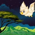 An owl flying — Stock Vector #20263873