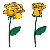 Two lovely flowers — Stock Vector