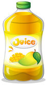 A bottle of juice — Stock Vector