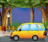 A yellow car — Stock Vector