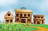Houses in the neighborhood — Stock Vector