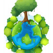 Stock Vector: Mother earth