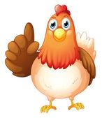A hen — Stock Vector