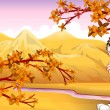 Royalty-Free Stock Vector Image: View of the mountain during autumn