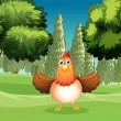 A hen at the park — Stock Vector #20808077