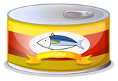 A can of tuna — Stock Vector