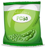 A pack of frozen peas — ストックベクタ