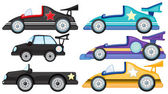 Six different cars — Stock Vector