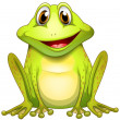 A smiling frog — Stock Vector