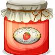 A strawberry jam - Stock Vector