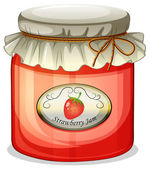 A strawberry jam — Stock Vector