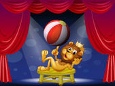 Lví král na pódiu — Stock vektor