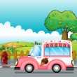 Stock Vector: Icecream truck