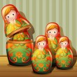 Russian dolls — Stockvectorbeeld