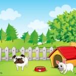 Two bulldogs — Stock Vector #21164349