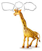 A giraffe with empty callouts — Stock Vector