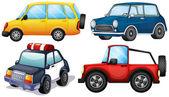 Quatre voitures différentes — Vecteur