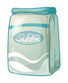 Eine packung von zucker — Stockvektor