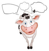 A cow with empty callouts — Stock Vector