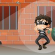 A thief at the jail - Imagen vectorial