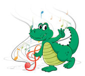 A dancing dinosaur — Stock Vector