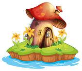 A mushroom house — Stock Vector